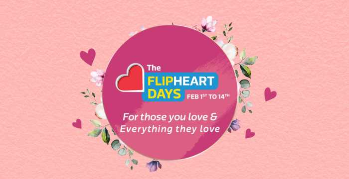 Flipkart Valentine Flip Heart Days Sale