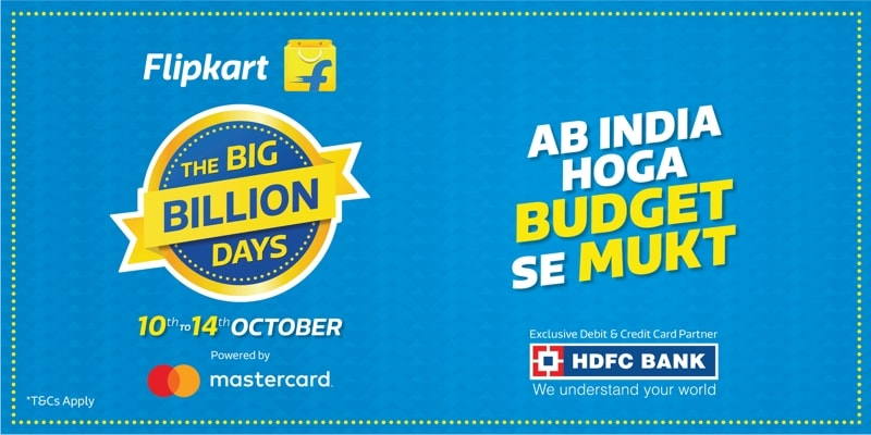 Flipkart Big Billion days sale