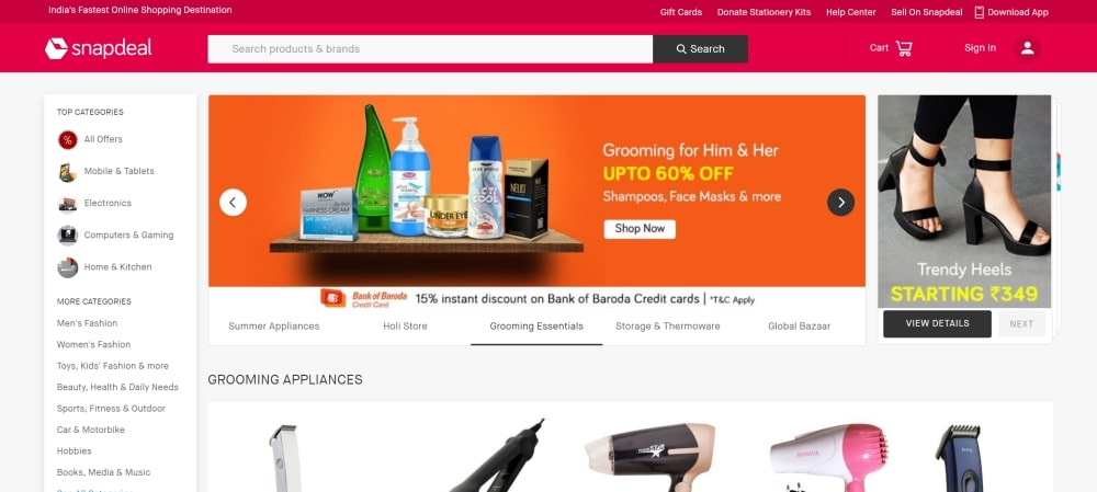 Old favorite Snapdeal
