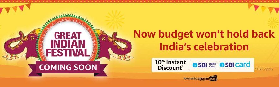 Amazon Upcoming Great Indian Sale September 2019