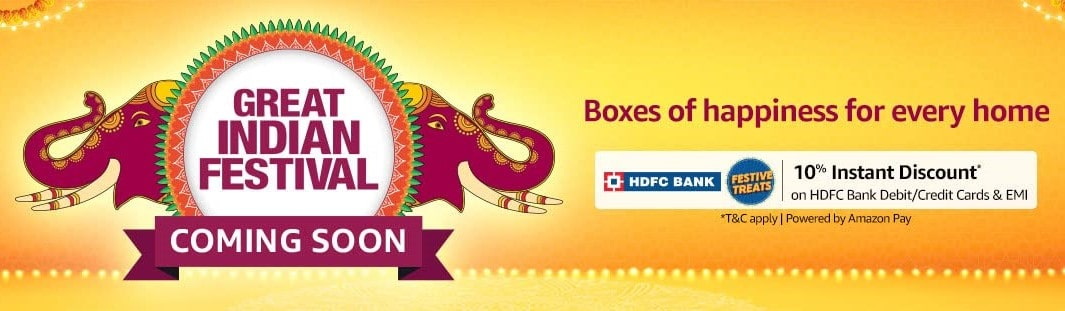 Amazon Great Indian Festival Sale Coming Soon Oct 2021